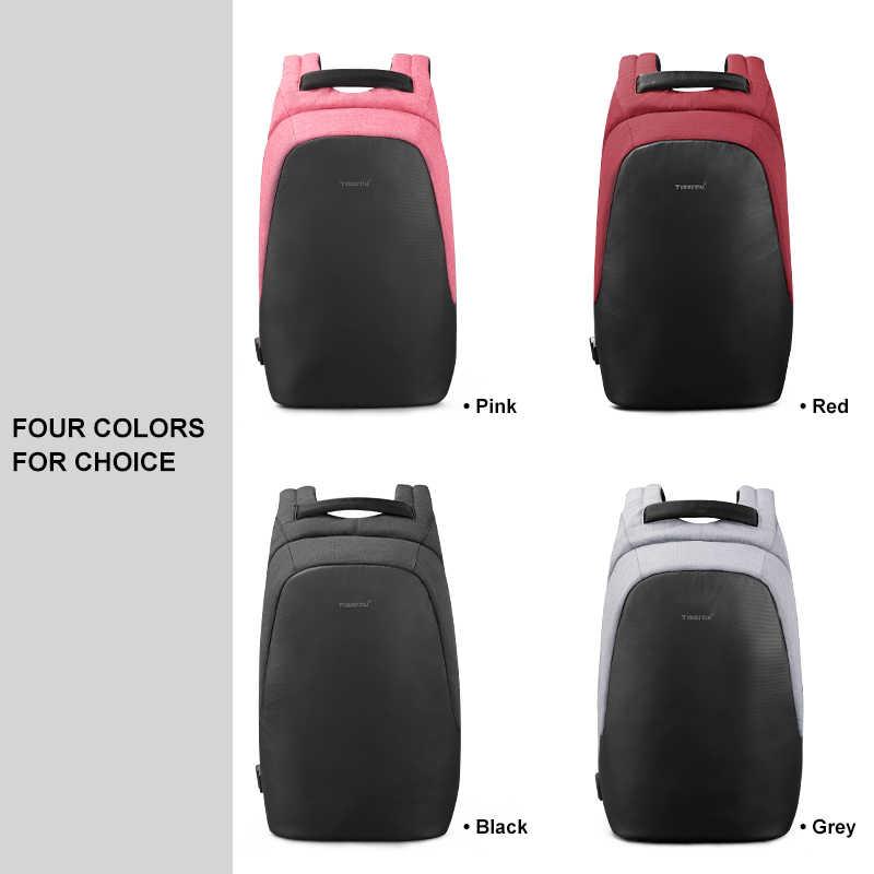 Tigernu Fashion Wanita Kasual Ransel Anti Pencurian Laptop 15.6 Inch Tahan Air Pria Usb Pengisian Perjalanan Kualitas Tinggi Tas Ransel
