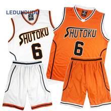 Anime Kuroko hiçbir Basuke sepeti Cosplay Shutoku okul üniformaları Midorima Shintaro erkekler Jersey spor T shirt şort takımı 4 5 6