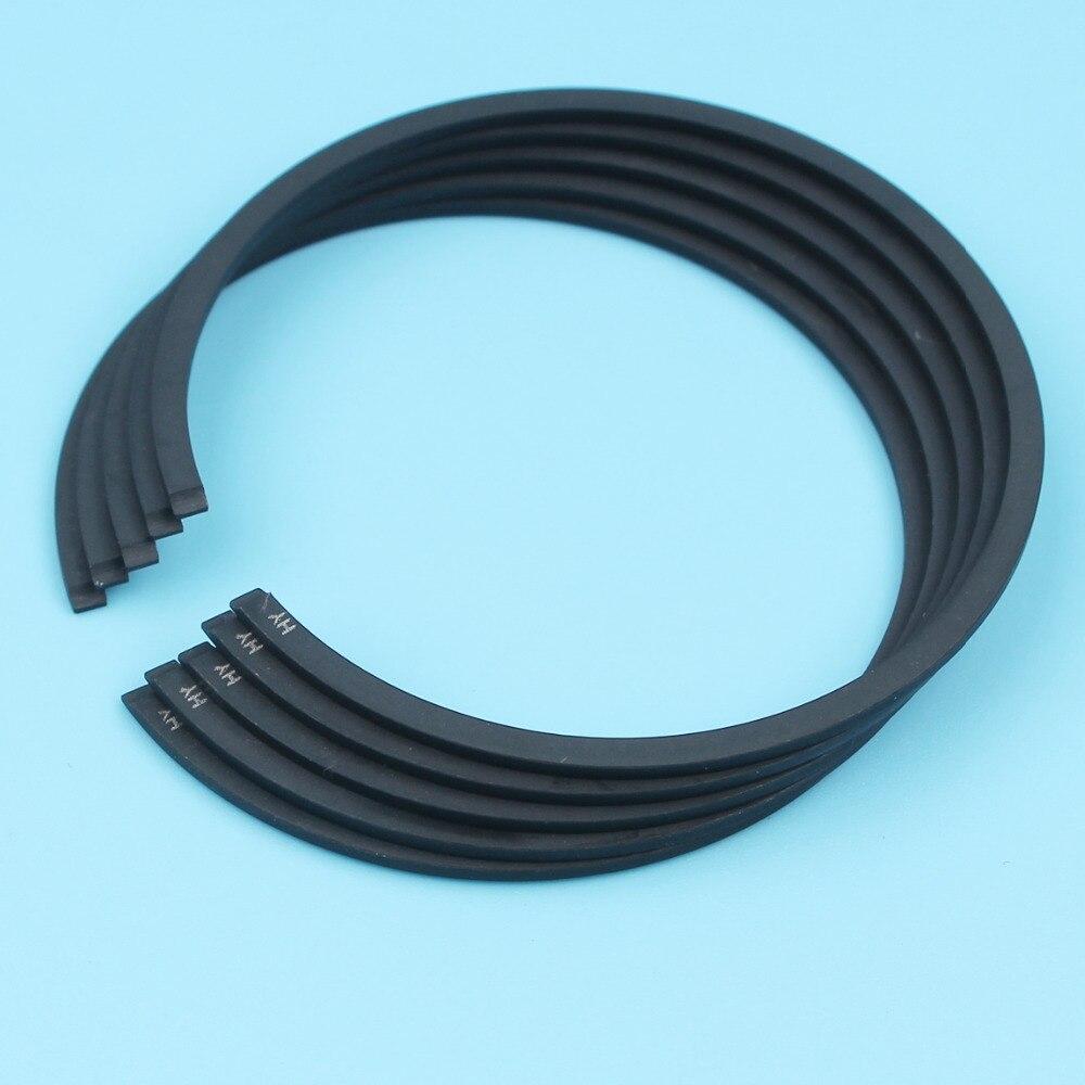 Piston Ring 50mm X 1.2mm For Husqvarna 362 371 372 375K Stihl 044 MS440 MS441 TS410 TS420 Cut-off Saw Chainsaw 5Pcs
