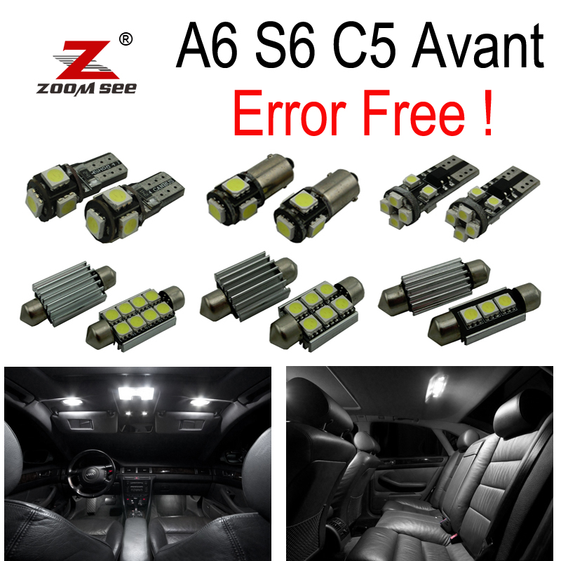 26pc x 100% Canbus No Error LED bulb interior dome light kit package for Audi A6 S6 C5 Avant Wagon (1998-2004) 15pc x 100% canbus led lamp interior map dome reading light kit package for audi a4 s4 b8 saloon sedan only 2009 2015