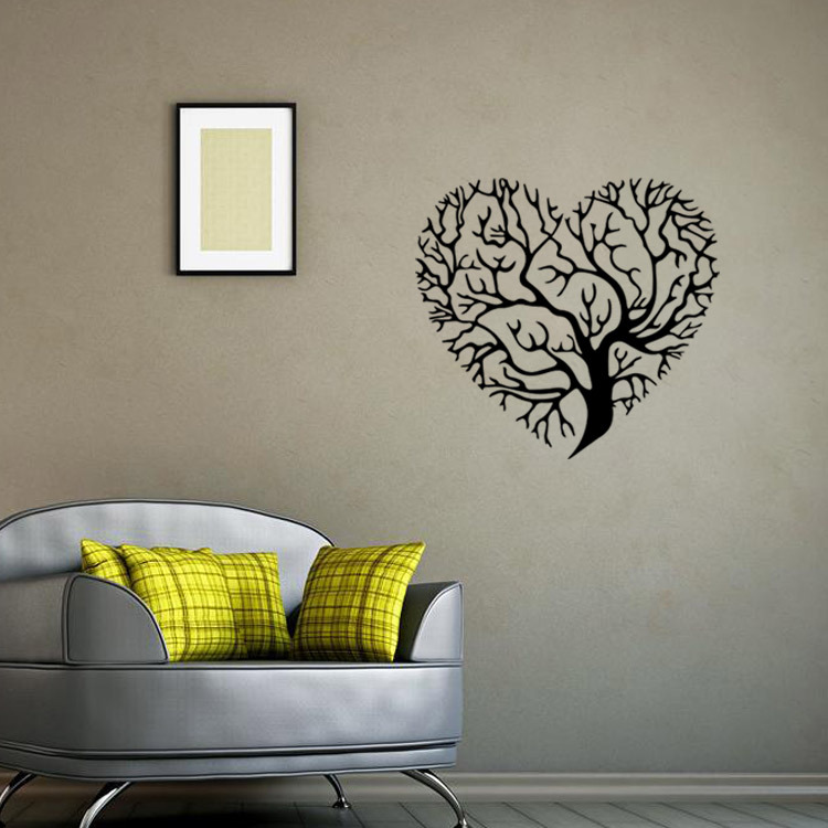 Aw9476 Fashion Love Heart Tree Wall Decor Vintage Life Tree Wall Sticker Home Decor Living Room