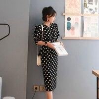 Women 2 piece sets Fashion Summer dot Short Sleeve Bodycon Office Lady Elegant whit belt skirt suit