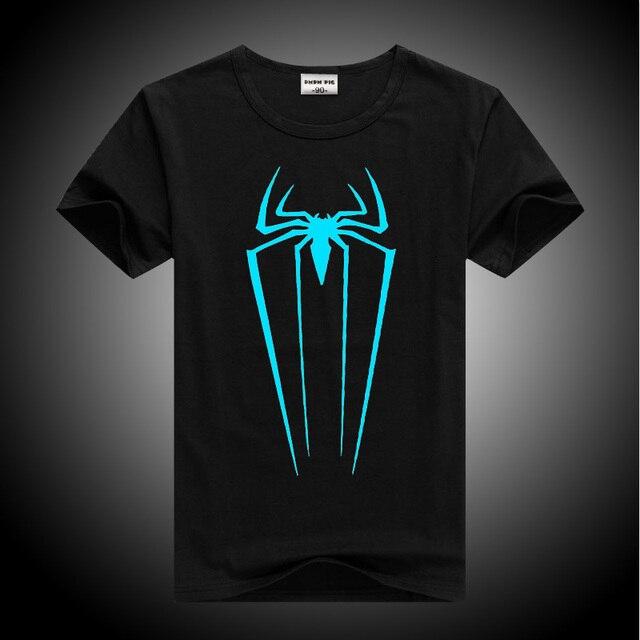 DMDM PIG Boys Luminous Short Sleeve T-Shirts For Girls Tops 8 11 12 13 Years Children Spiderman Tshirt Baby T Shirt Kids Clothes 1