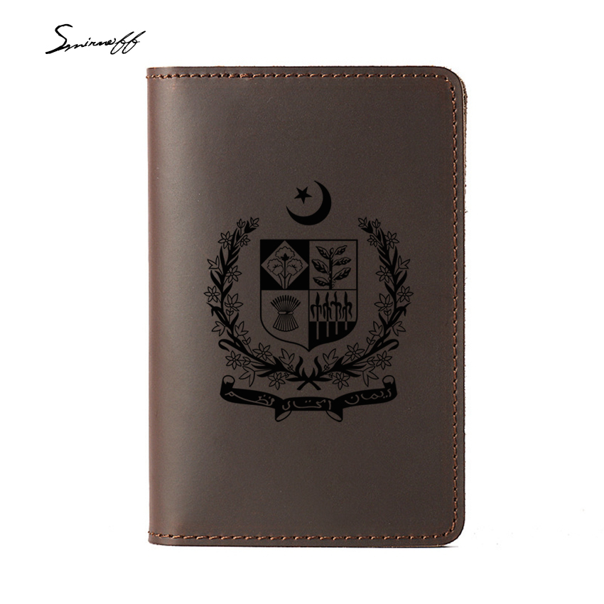 9de0151e6 Custom Engraved State Emblem of Pakistan Passport Holder Genuine Leather  Card Holders Travel Passport Cover-in Travel Accessories from Luggage    Bags on ...
