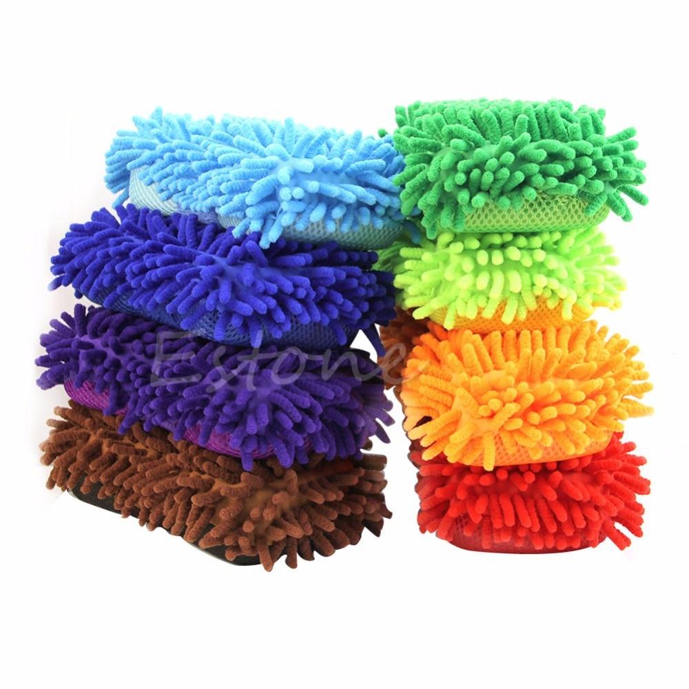 1Pc Chenille Microfiber Vehicle Car Care Washing Brush Sponge Pad Cleaning Tool