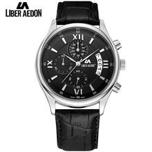 Liber Aedon Top Marque De Luxe Mens Montre Bracelet En Cuir Bussiness Casual Sport Homme Quartz Montres Étanches Montres Hommes