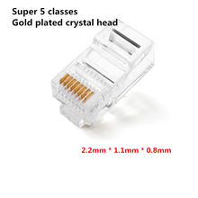 100PCS Crystal 8Pin RJ45 Modular Plug Rj-45 Network Cable Connector Adapter for Cat5 Cat5e Cat6 Rj 45 Ethernet Cable Plugs Heads(China)