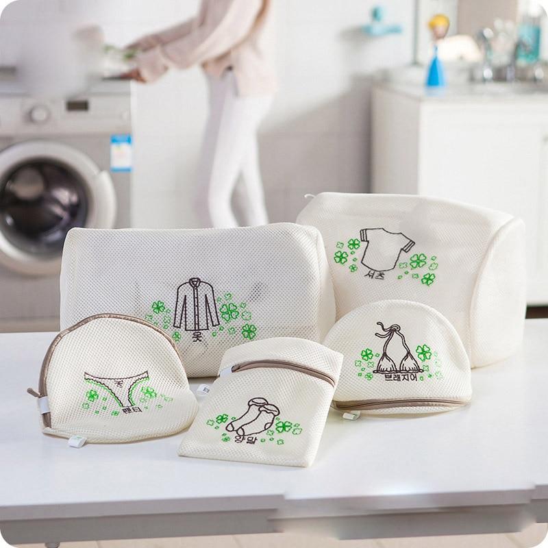 Shirt Sock Underwear Washing Lingerie Wash Protecting Mesh Bag laundry basket Thickened Embroidered Zippered Mesh Laundry Bag