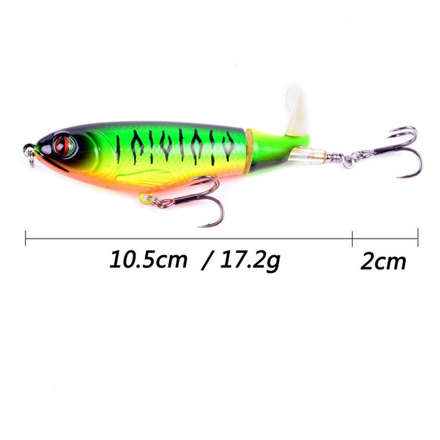 Artificial Top Water Fishing Lure Wobbler Rotating Tail