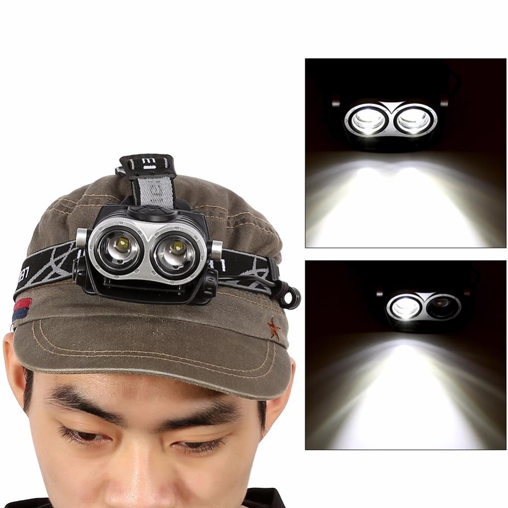 Dual Luz T6 LED Recargable de la Linterna de La Antorcha Para Los Deportes Al Ai