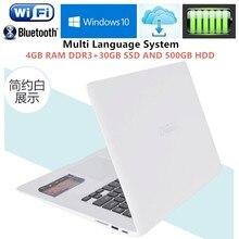 4GB RAM+30GB+500GB HDD 14.1″Windows10 notebook PC Ultrabook Laptop Intel Pentium N3520 Quad Core 2.16GHz USB3.0 Port on for SALE