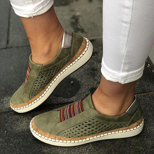 Puimentiua Sneakers Women Vulcanize Shoes Casual Breathable Shoes Female Soft Leather Flats Ladies