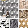 3D PVC Ziegel Stein Wand Aufkleber Wand Papier Selbst adhesive Rustikalen Wirkung kreative diy Home küche badezimmer Dekor kidsroom 30x30cm