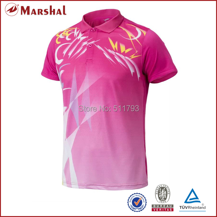 Fully Sublimation CustomCouples Unisex Shirts Table Tennis,Badminton Jersey Free Shipping 100%polyester Short-sleeve