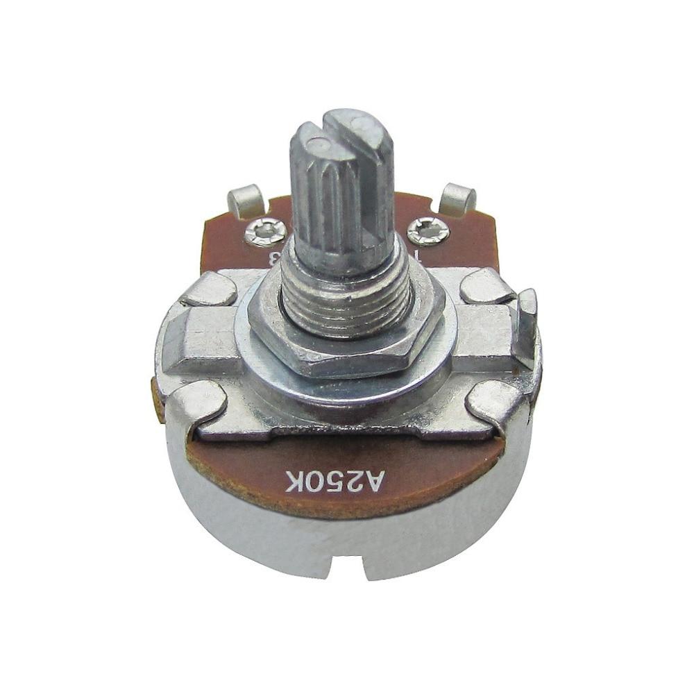 Potenciómetros de eje corto de 20 piezas, A250K /B250K /A500K /B500K, Control de volumen de tono para guitarra ST/ Tele Bass