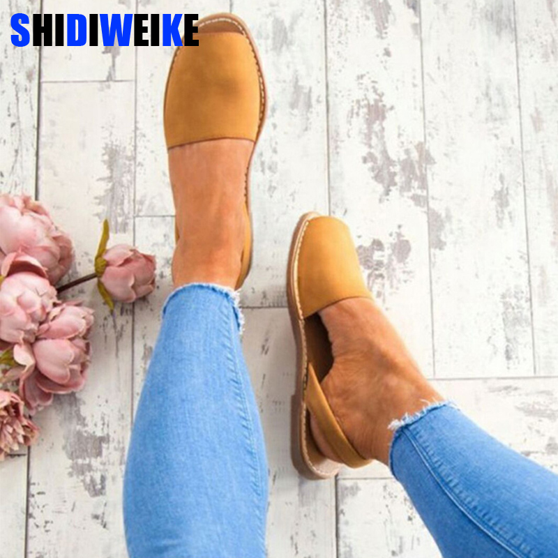 Women Sandals Plus Size 34-44 Summer Shoes Woman Peep Toe Flat Sandals Back Strap 2020 Summer Sandals Low Heels zapatos mujer