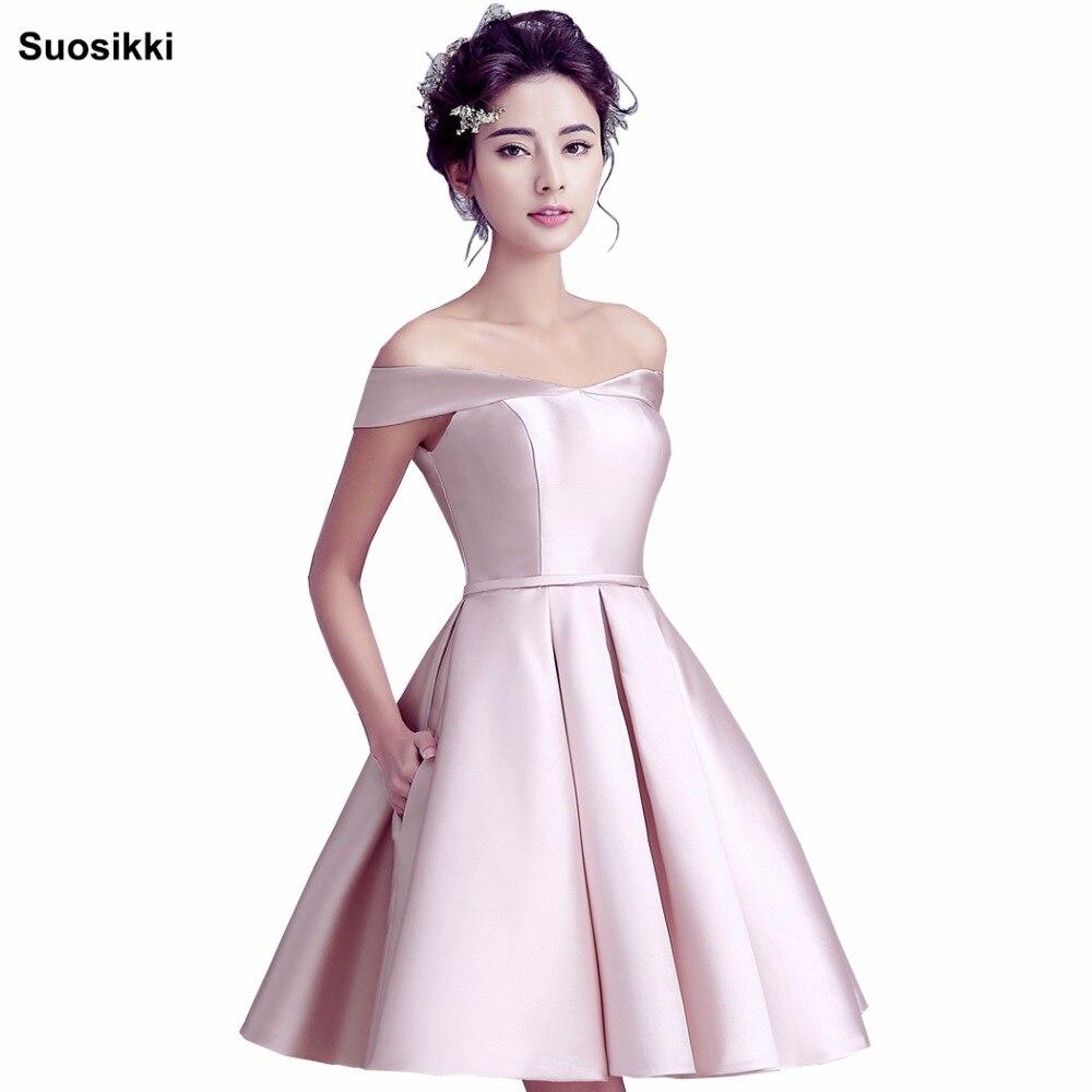 Suosikki 2018 New Short Evening Dress Bride Banquet Sweetheart Boat Neck Party Formal Dress Elegant
