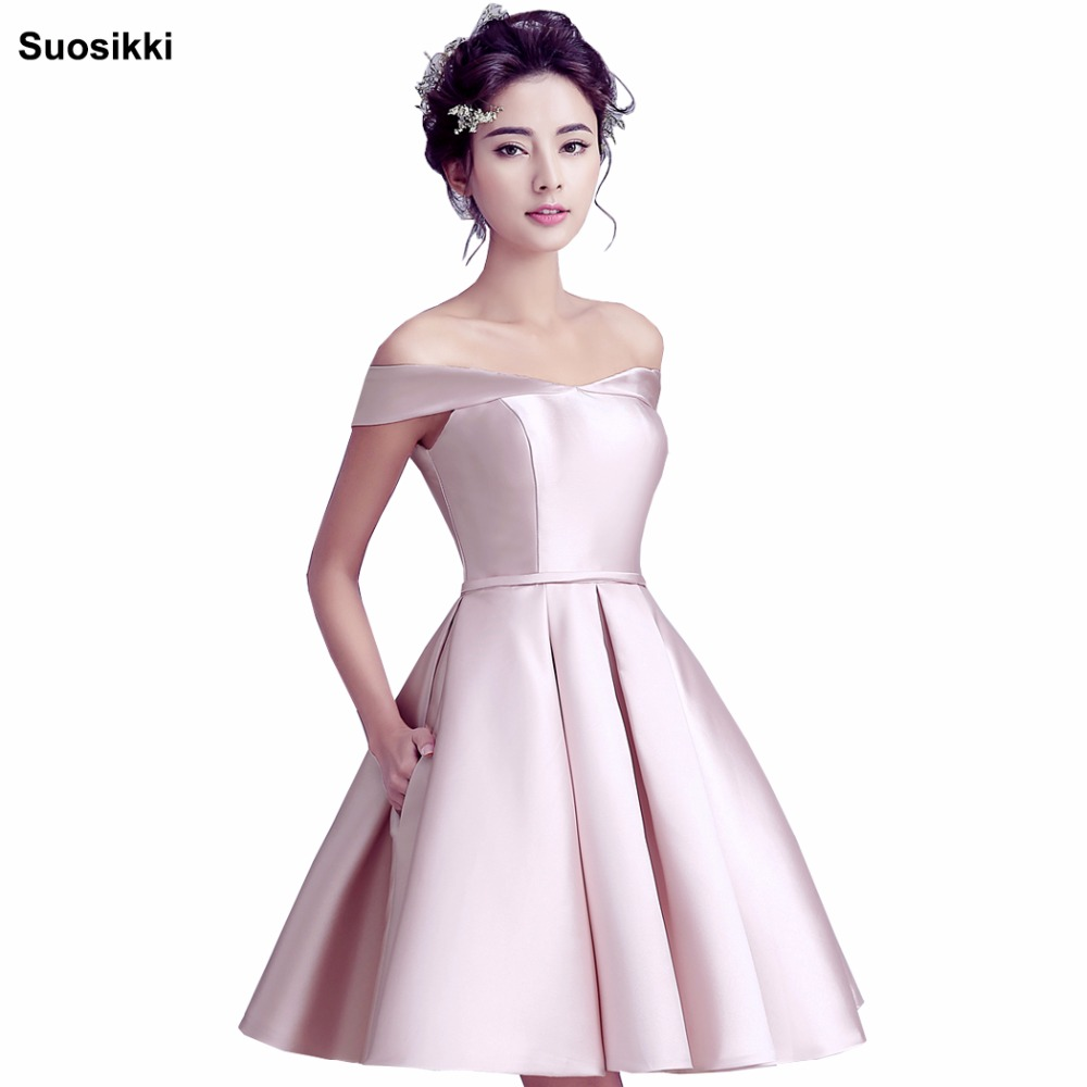 Suosikki 2018 New short   Evening     Dress   Bride Banquet Sweetheart Boat Neck Party Formal   Dress   elegant