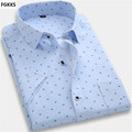 2016 Hot Sale High Quality Casual Shirt Men Dot Shirt Summer Short Sleeve Shirt Brand-Clothing Slim Fit Mens Dress Shirts
