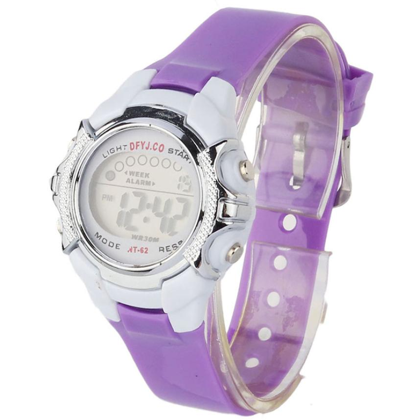 2017 Hot / Casual Fashion Children Digital LED Alarm Data Quartz - Męskie zegarki - Zdjęcie 4