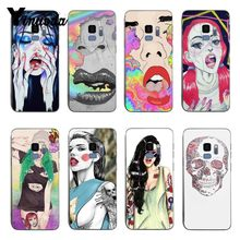 Yinuoda Color sexy girl skull Soft coque Cover case For samsung S6 S7 S8 s8plus s9plus S6edge S7edge Note8 9(China)