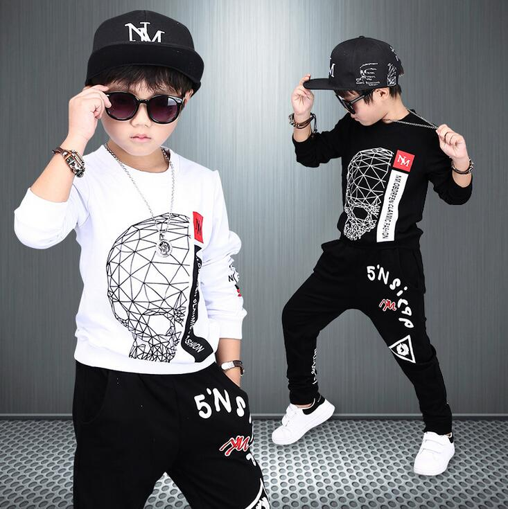 Boys Clothing Sets Autumn Cotton Cute Sweatshirts Tops + Haren Pants Outfits Set 2pcs Spring Clothes For 4 6 8 10 12 14 Years