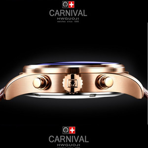 Image 3 - Carnival Top Brand Luxury Mens Watches Sapphire Fashion Mechanical wrist Watch Multifunction 6 Hands moon phase waterproof reloj