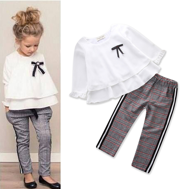 Baby Girls Stripe I Woke Up Like This Toddler shirt and Pants Outfits Set 2 to 7Y Girls Clothing Sets Kids Good Quality Suits blusa sexi animal print
