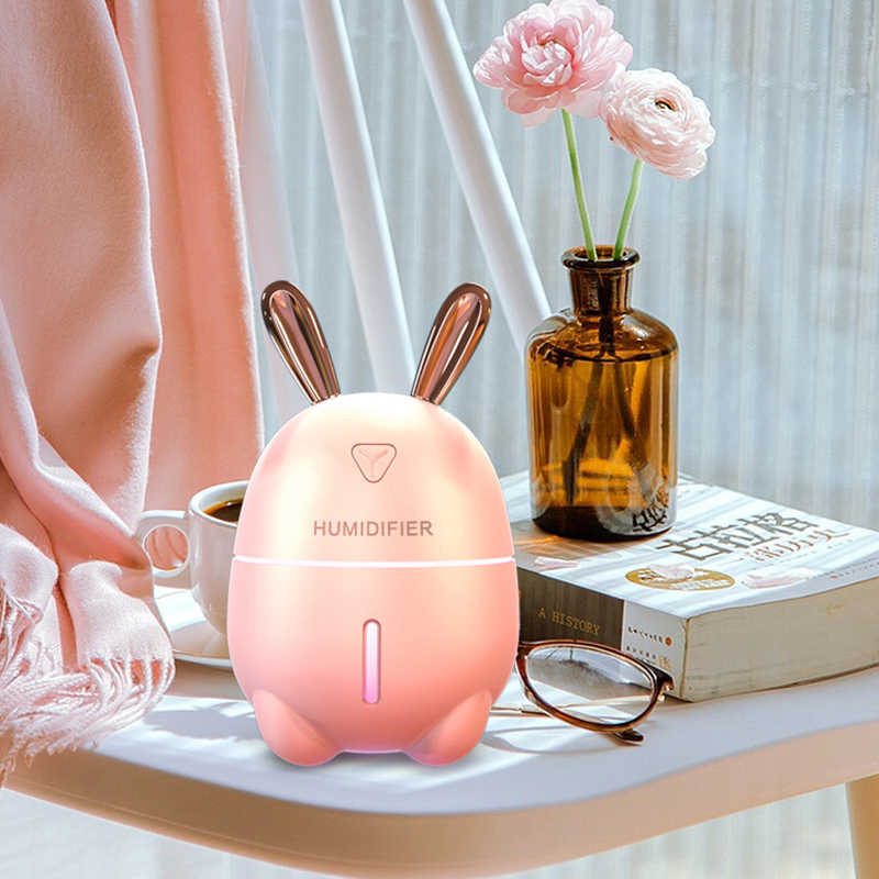 KEBEIER 300 мл увлажнитель воздуха кролик ультра-тихий USB Арома эфирные масла диффузор офисный Автомобильный увлажнитель воздуха создатель тумана очистителя