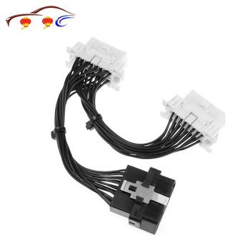 Top Quality 16 Pin OBD2 OBDii OBD 2 Splitter Extension Cable One Male To Two Female Y Cable OBD2 Splitter Extension image