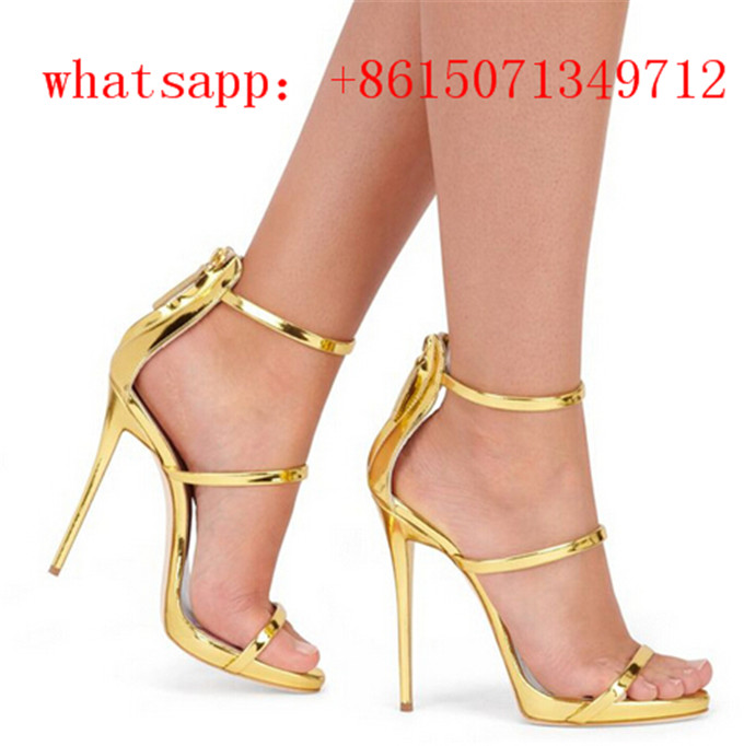 Hot Sale Fashion Women Gold Strappy Sandals Silver Gold Platform Gladiator Sandals Woman Thin High Heels Narrow Brand Summer phyanic 2017 gladiator sandals gold silver shoes woman summer platform wedges glitters creepers casual women shoes phy3323