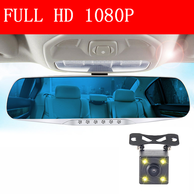 dual lens cars dvr rearview mirror auto dvrs recorder video registrator full hd1080p car camera dash cam camcorder night vision