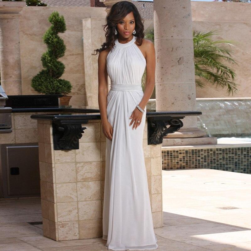 New Bridal Wedding Gown Centre: Simple Design Halter Sleeveless Cheap Gown Empire Waist