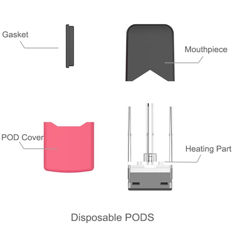 Electronic Cigarette Ciggo J Box Pod Starter Kit With Pod For Juul 350mAh  Battery Vape Box Mod Vaporizer With 0 6ml Capacity Pod