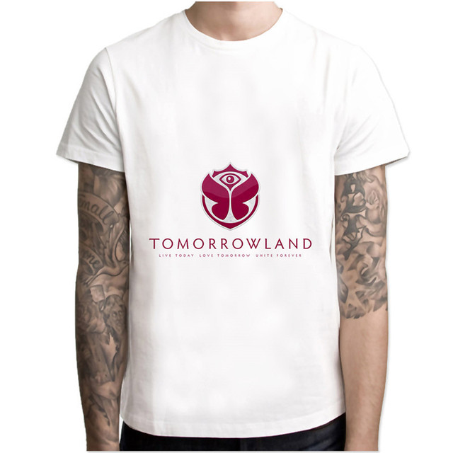 tomorrowland T-Shirts Men Personalized Custom Tee 2017 Summer male Fitness T  shirt M8070