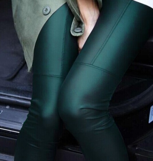 Full Leather Patchwork Leggings
