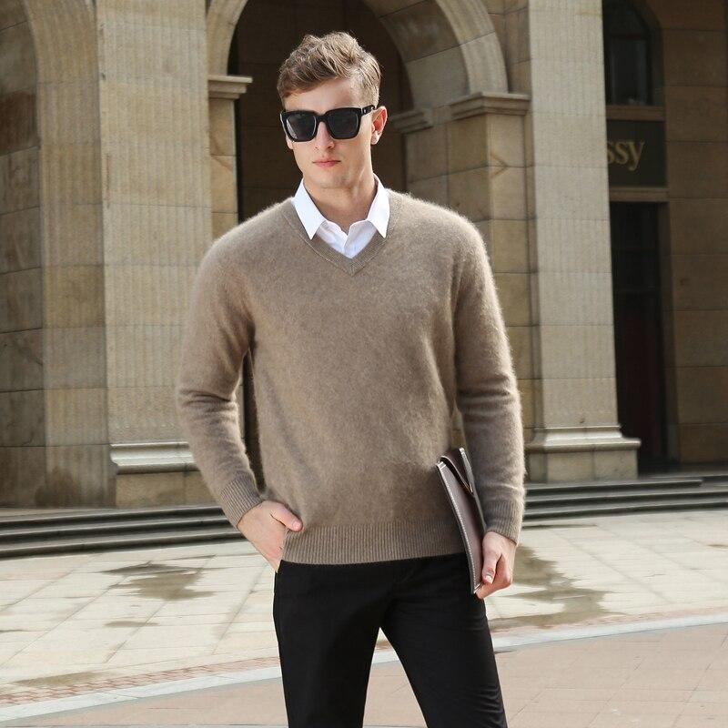 BARESKIY Super Soft Cashmere Cashmere Soft Sweater Wool Sweater Men's Pullover Spring And Winter Sweater V-neck Pullover