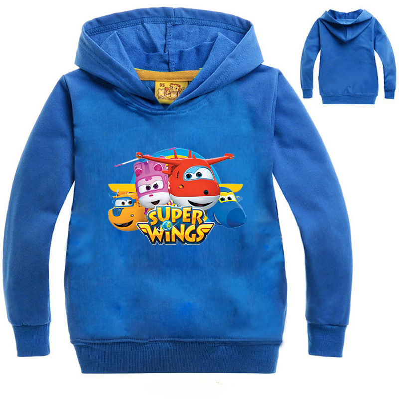 3-14Years Boys Hoodie Clothes Super Wings Costume Kids Autumn Sweatshirts Tops Girls Tshirt Kids Teen Toddler Baby Boys Spring paul frank baby boys supper julius fleece hoodie