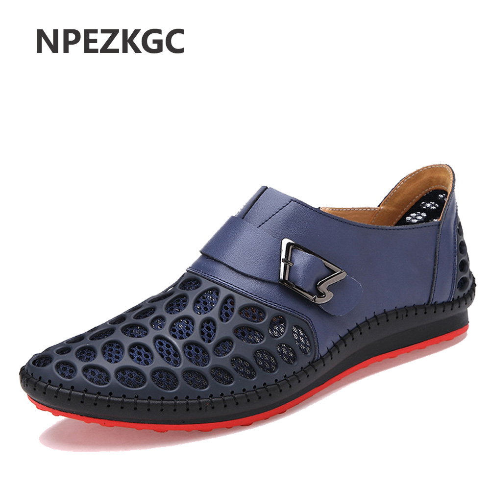 NPEZKGC Men Shoes Casual Genuine Leather Shoes Mens Luxury Brand Summer Leisure Breathing Flats For Men New 2017 Zapatos Hombre grimentin fashion 2016 high top braid men casual shoes genuine leather designer luxury brand men shoe flats for leisure business