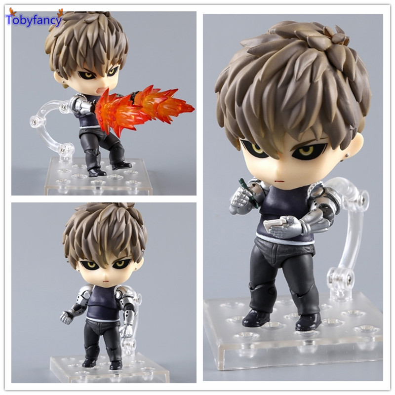 Tobyfancy Anime ONE PUNCH-MAN Action Figure Nendoroid Genos Super Movable 645# One Punch Man PVC 10CM Collection Model Toy free shipping cute 4 nendoroid monokuma super dangan ronpa anime pvc acton figure model collection toy 313 mnfg057