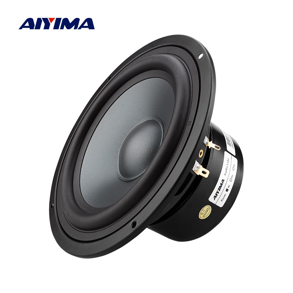 AIYIMA 6.5 pouces haut-parleur de graves 4 8 ohms 50 W fièvre haut-parleur bibliothèque son bricolage haut-parleurs colonne pour système de son