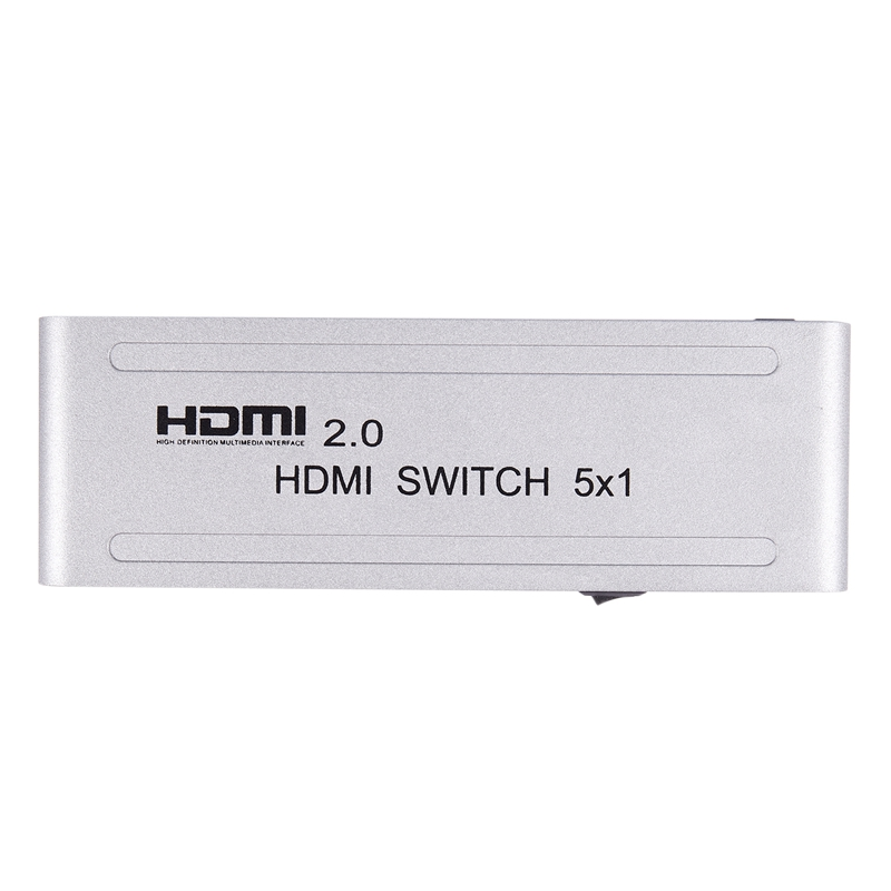 HOT-1080P Hdmi Switcher Hdmi 2.0 5X1 Switch Audio Video Converter 4Kx2K@60Hz Support Hdr-Us Plug