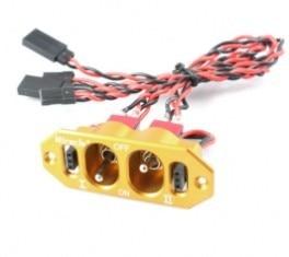 Чудо двойной выключатель питания с Futaba / JR разъем кабели желтый цвет бесплатная доставка