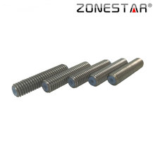Zonestar 5PCS/lot High Quality M6X26 Throat Nozzle White PTFE Teflon Tube Inside for MK7 MK8 3D Printer Extruder 1.75mm Filament