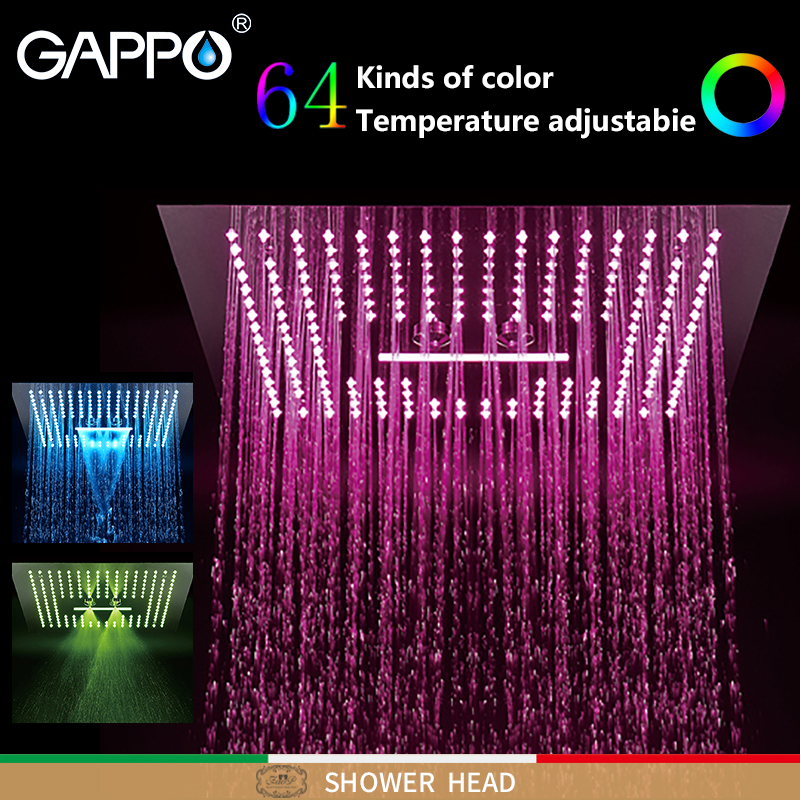 GAPPO Shower heads Rainfall shower heads black and Chrome bathroom faucet mixer LED Light faucet 3 fauction shower faucetsGAPPO Shower heads Rainfall shower heads black and Chrome bathroom faucet mixer LED Light faucet 3 fauction shower faucets