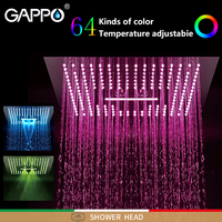 GAPPO Shower heads Rainfall shower heads black and Chrome bathroom faucet mixer LED Light faucet 3 fauction shower faucets