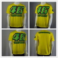 Free shipping 2017 Valentino Rossi VR46 Collection 46 VALEYELLOW T-Shirt Moto GP Racing Shirt motobike Racing T-shirt