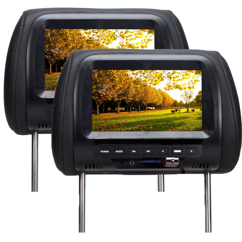 SH7038-P5 One Pair Factory direct 7 Inches Car Monitor TFT LED Digital Screen Headrest Monitor MP5 Player Support USB & SD Card sd one 24 page 7