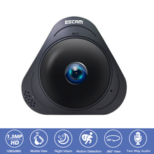 ESCAM Q8 360 Degree Panoramic CCTV Surveillance Security Camera  HD 960P Wifi IP Camera Wireless Fisheye VR Camera 2 Way Audio