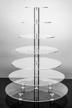 Round 7 Tier clear Acrylic Cupcake Display Stand /acrylic cake stand